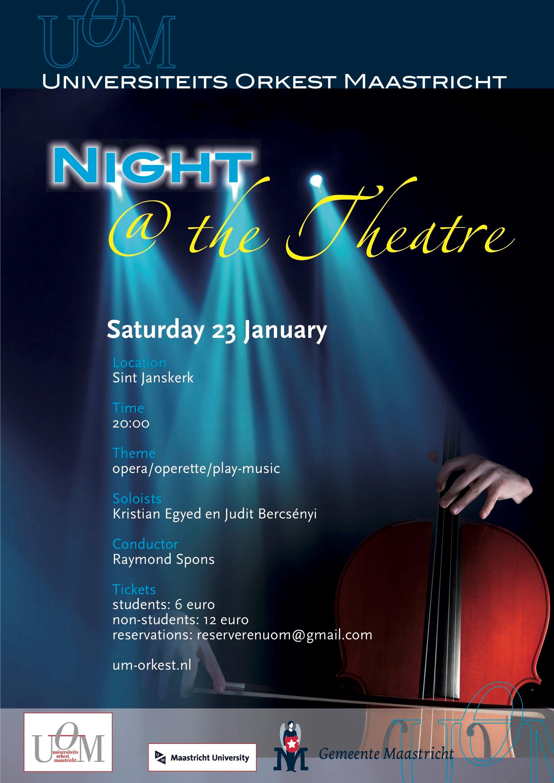 Night@ the Theatre door UOM